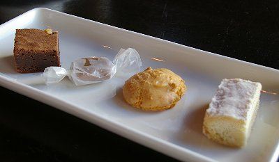 The Cookie Plate Dessert from Pacific Grill restaurant in Tacoma, Washington.