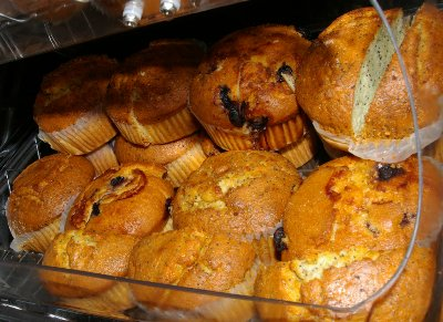 Breakfast muffins at the Baymont Inn and Suites in Bellingham, Washington.