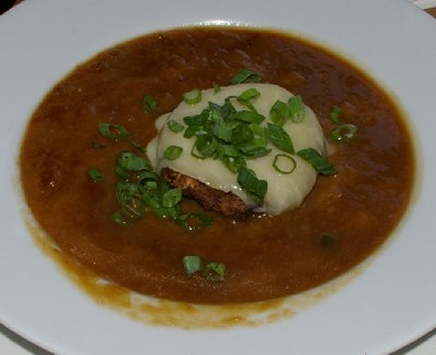 Irish Onion Soup from The Copper Hog restaurant in Bellingham, Washington.