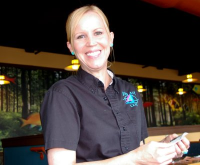 Our server Debbie from the Budd Bay Cafe in Olympia, Washington.