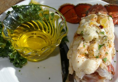 A Maine lobster tail from the Budd Bay Cafe in Olympia, Washington.
