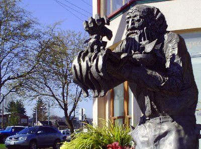 Public art on display in downtown Puyallup, Washington.