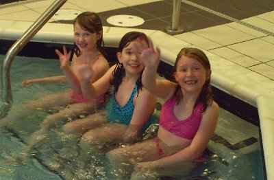 Children at play in the indoors pool at the Fairfield Inn & Suites in Puyallup, Washington.
