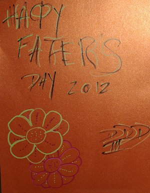 My Fathers Day card from son Del.
