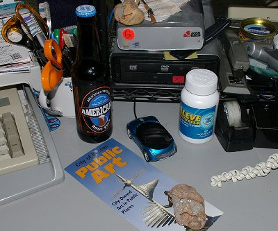 My cluttered desk.
