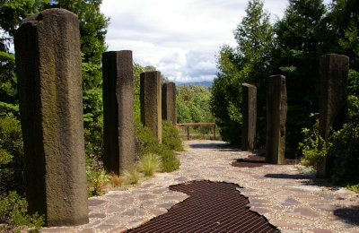 The entry of the Waterworks Gardens in Renton, Washington.